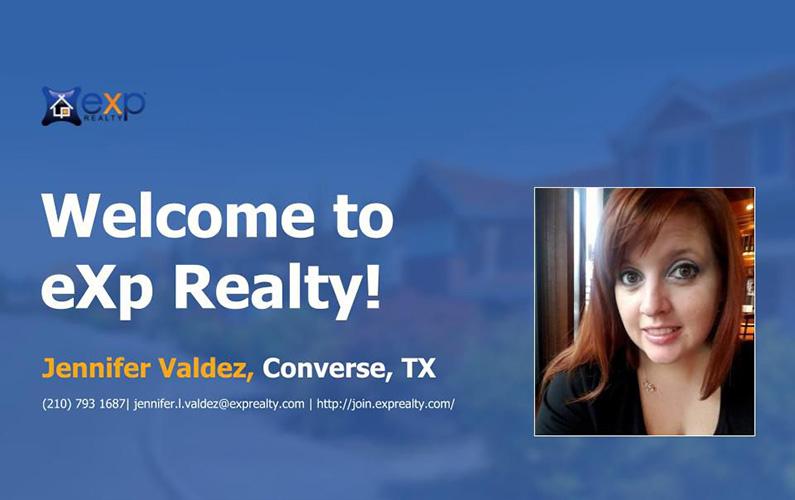 Welcome to EXP Realty Jennifer Valdez