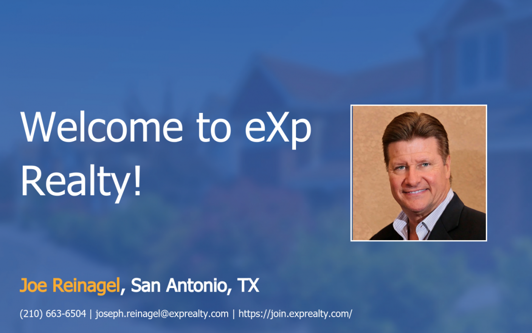 Welcome to EXP Realty Joe Reinagel!