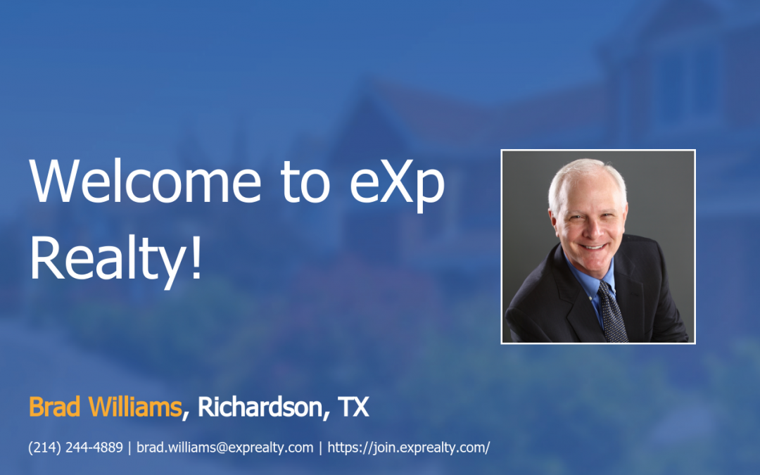 Brad Williams Joined EXP Realty!