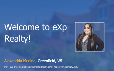 Welcome to eXp Realty Alexandria Medina!