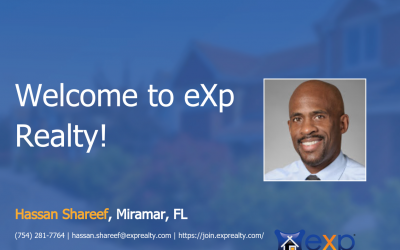 eXp Realty Welcomes Hassan Shareef!