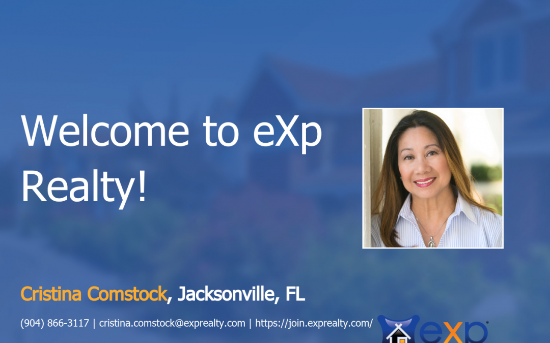 Welcome to eXp Realty Cristina Comstock!