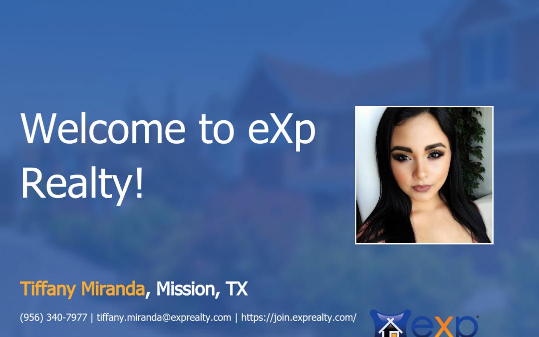 eXp Realty Welcomes Tiffany Miranda!