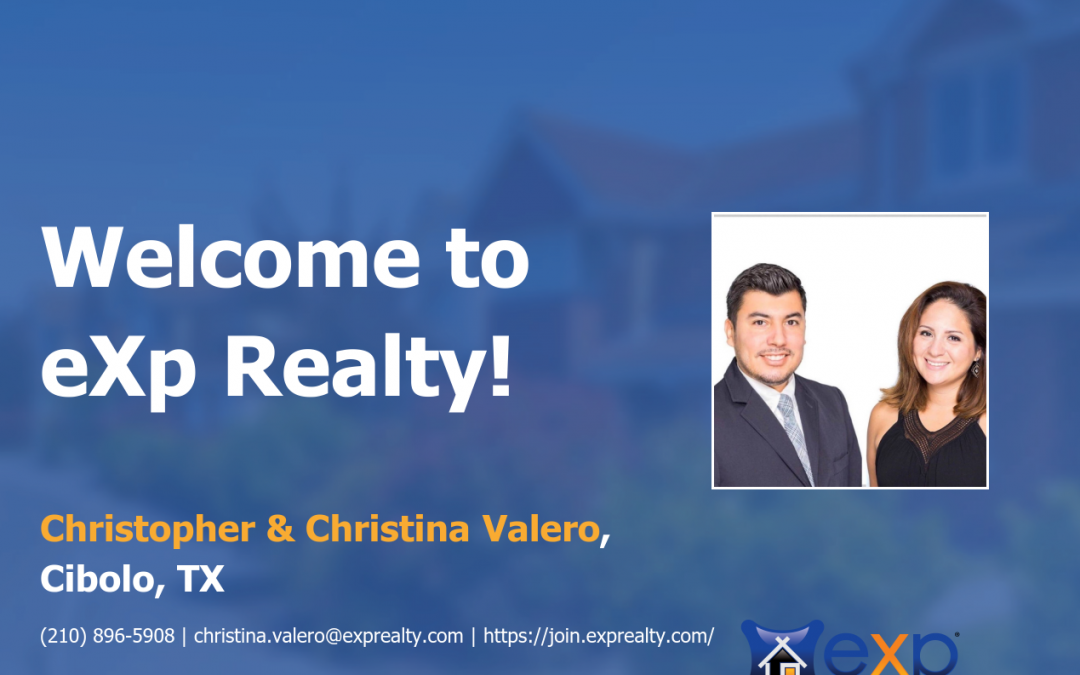 Welcome to eXp Realty Christopher & Christina Valero!