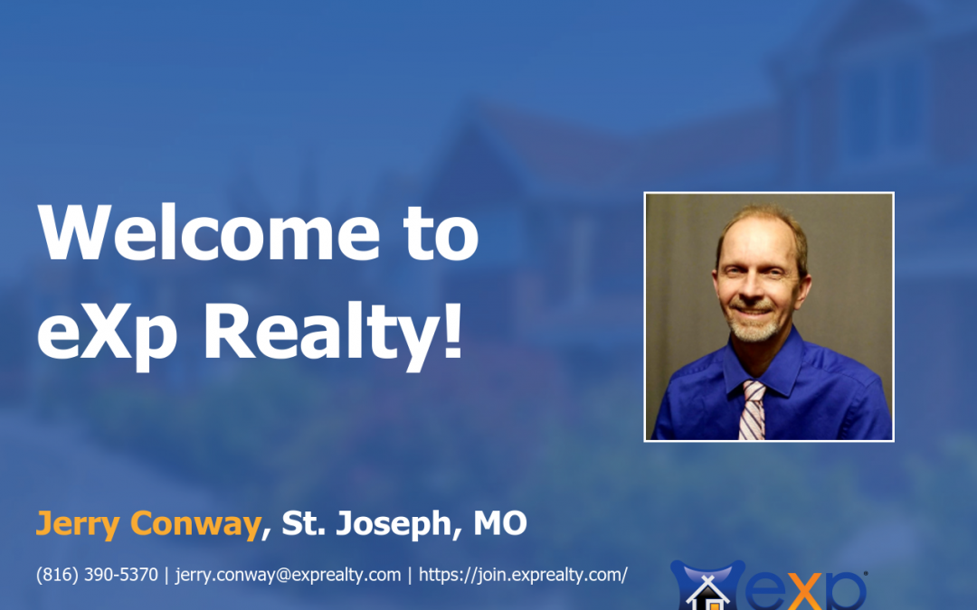 Welcome to eXp Realty Jerry Conway!