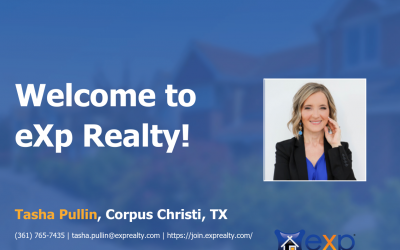 Welcome to eXp Realty Tasha Pullin!