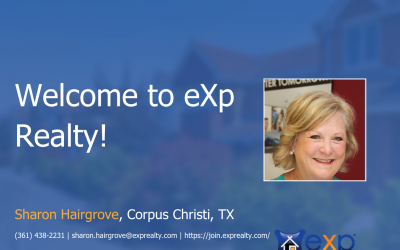 Sharon Hairgrove Joined eXp Realty!