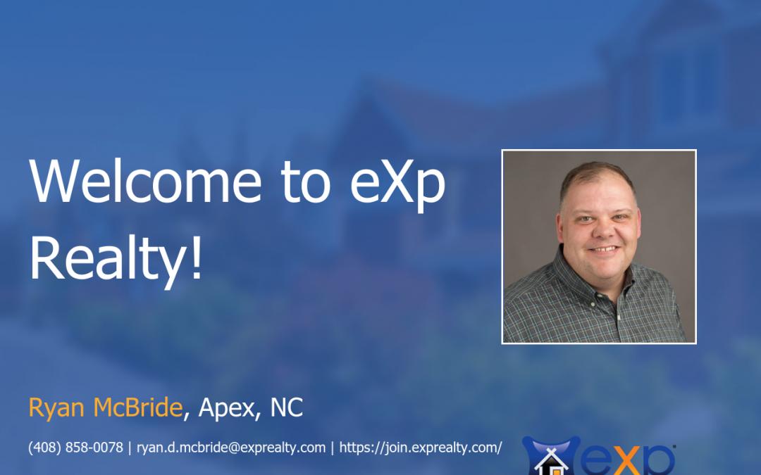 eXp Realty Welcomes Ryan McBride!