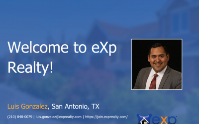 Welcome to eXp Realty Luis Gonzalez!