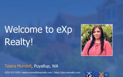 Teaira Mundell Joined eXp Realty!