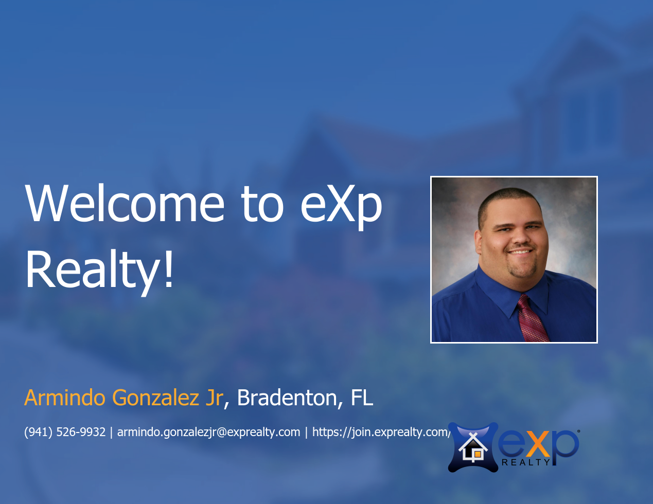 eXp Realty Welcomes Armindo Gonzalez Jr!