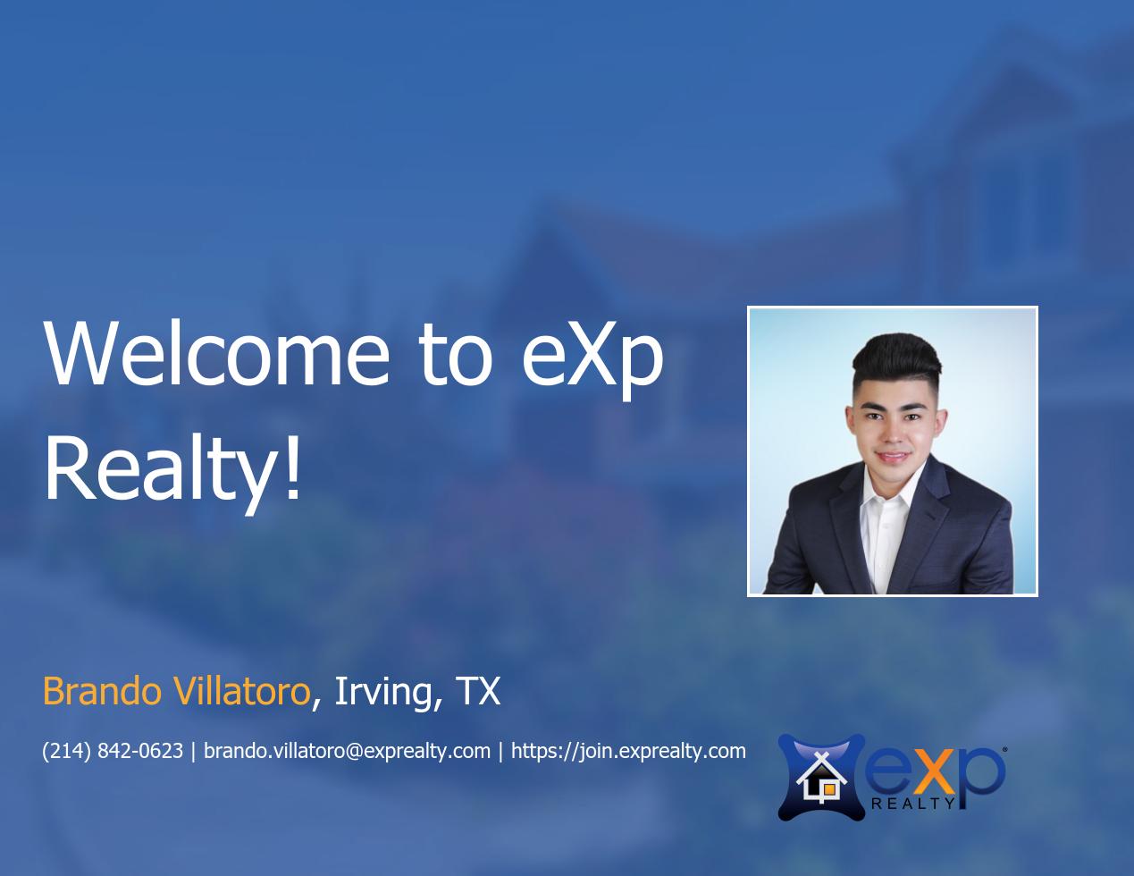 Brando Villatoro Joined eXp Realty!