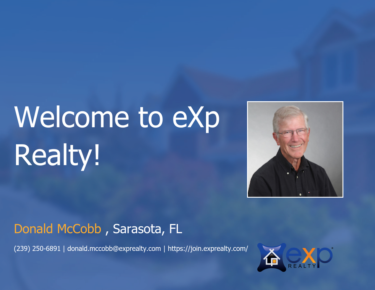 Donald McCobb Joined eXp Realty!
