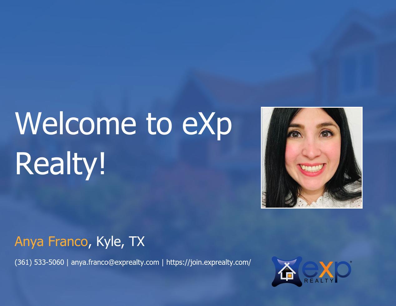 eXp Realty Welcomes Anya Franco!