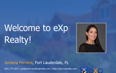 Welcome to eXp Realty Jordana Ferreira!