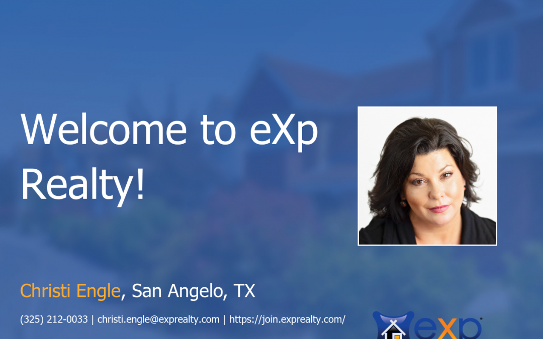 Welcome to eXp Realty Christi Engle!