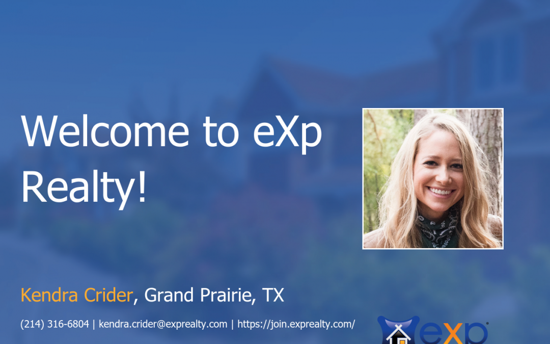 eXp Realty Welcomes Kendra Crider!
