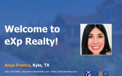 Welcome to eXp Realty Anya Franco!