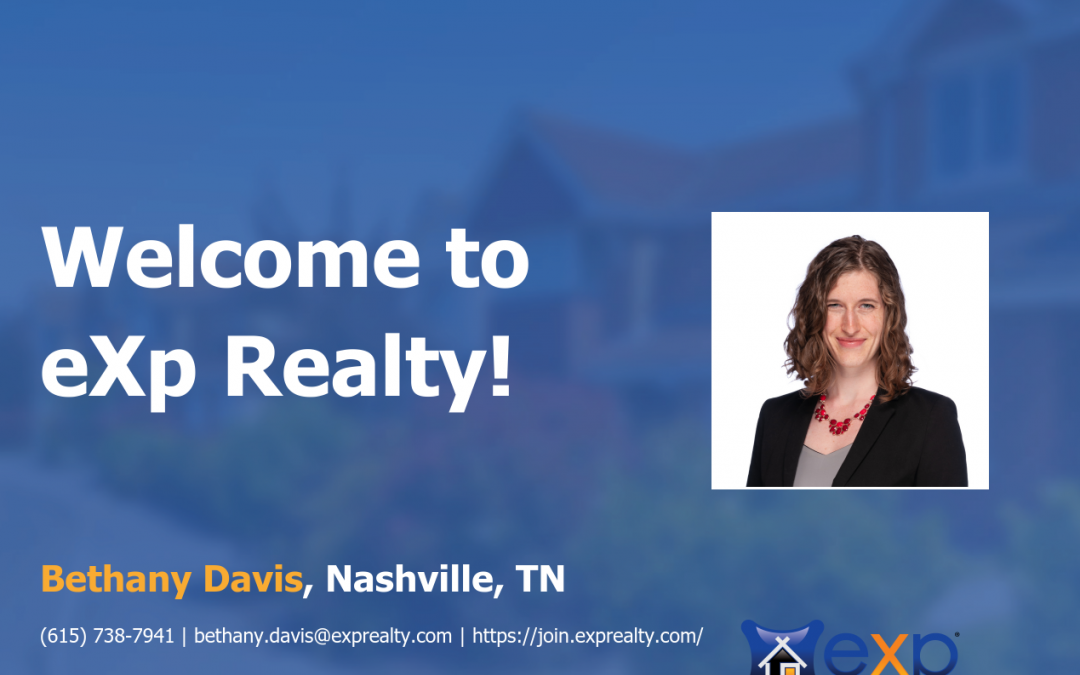 eXp Realty Welcomes Bethany Davis!