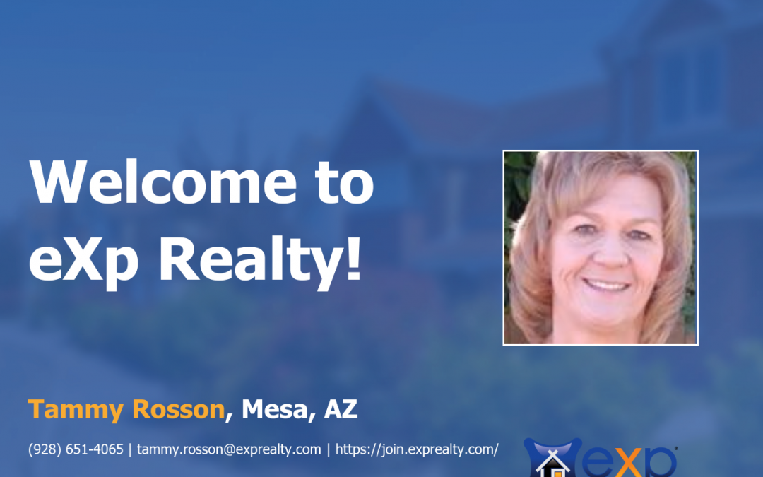 Tammy Rosson Joined eXp Realty!