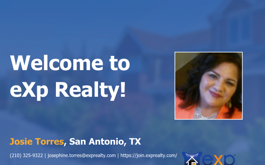 Welcome to eXp Realty Josie  Torres!