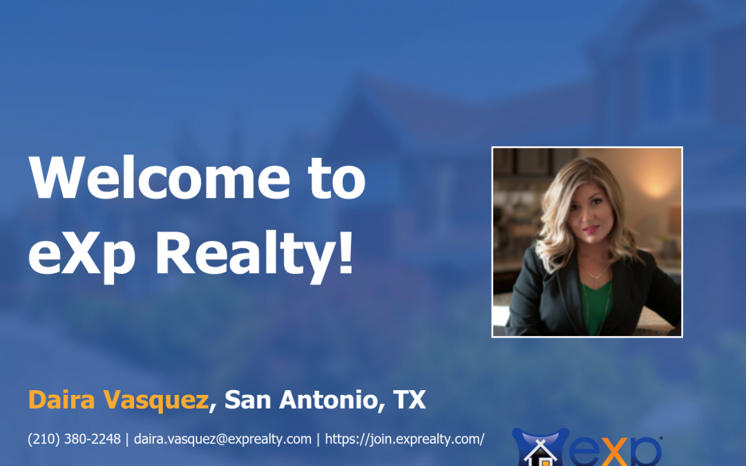 Daira Vasquez Joined eXp Realty!