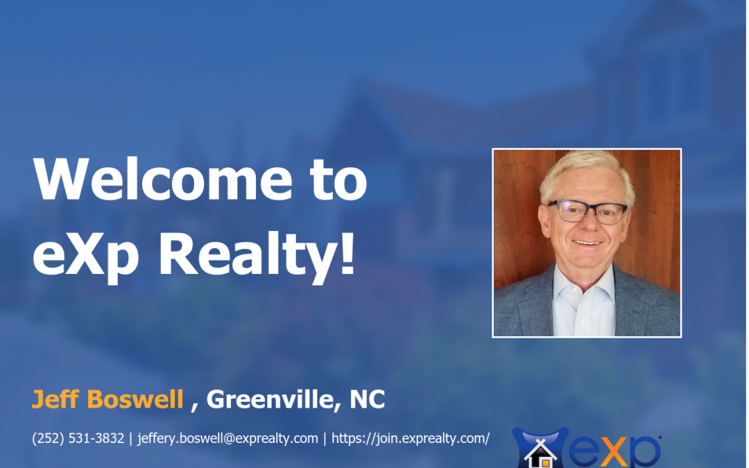 Jeff Boswell Joined eXp Realty!