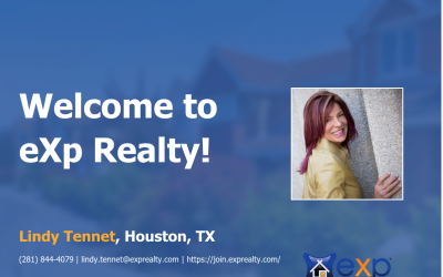 Welcome to eXp Realty Lindy Tennet!