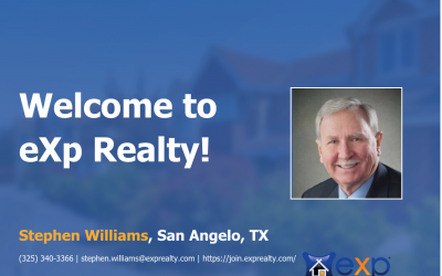 Welcome to eXp Realty Stephen Williams!