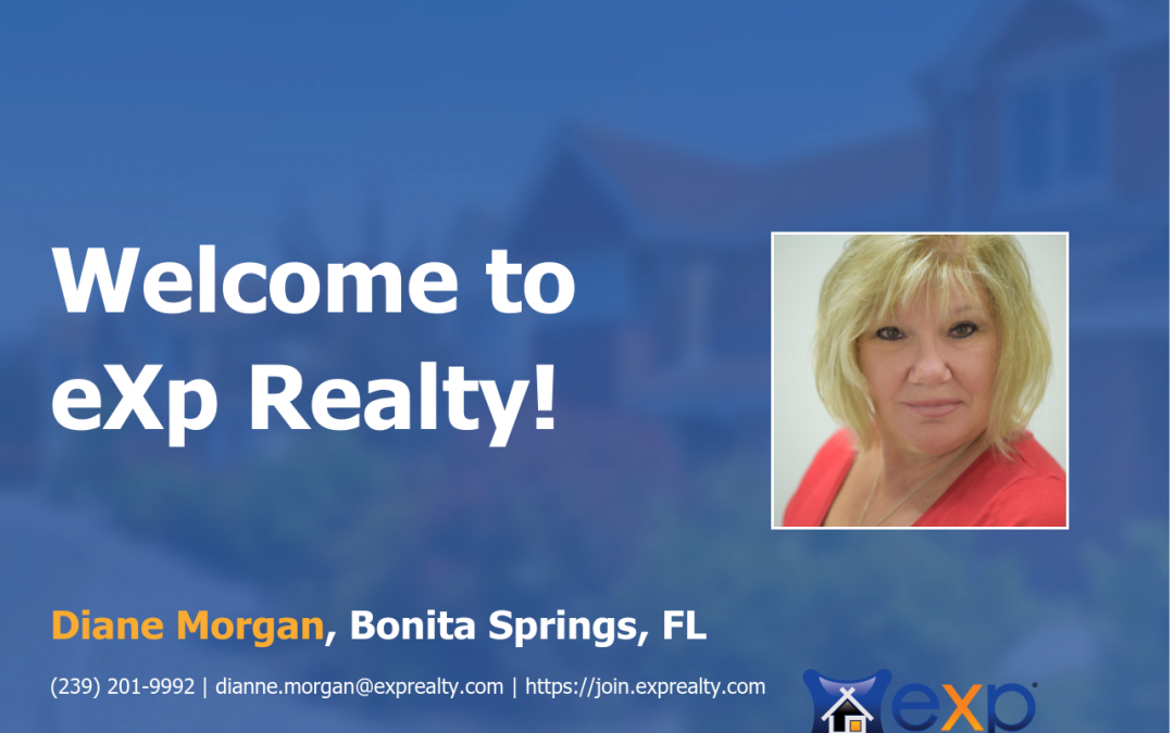 Welcome to eXp Realty Diane Morgan!