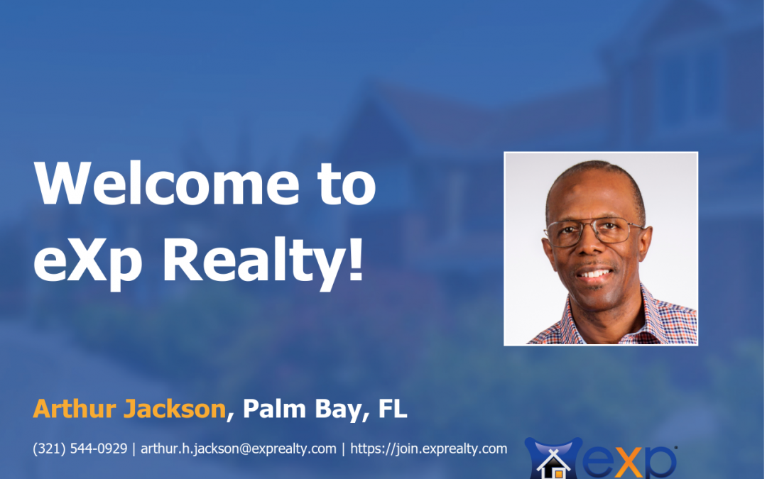 Arthur Jackson Joined eXp Realty!