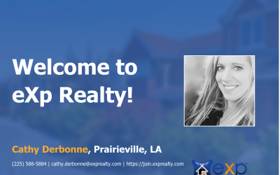 eXp Realty Welcomes Cathy Derbonne!