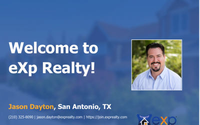 Welcome to eXp Realty Jason Dayton!