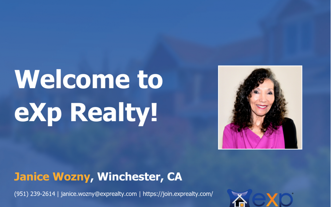 Welcome to eXp Realty  Janice Loretta Wozny!