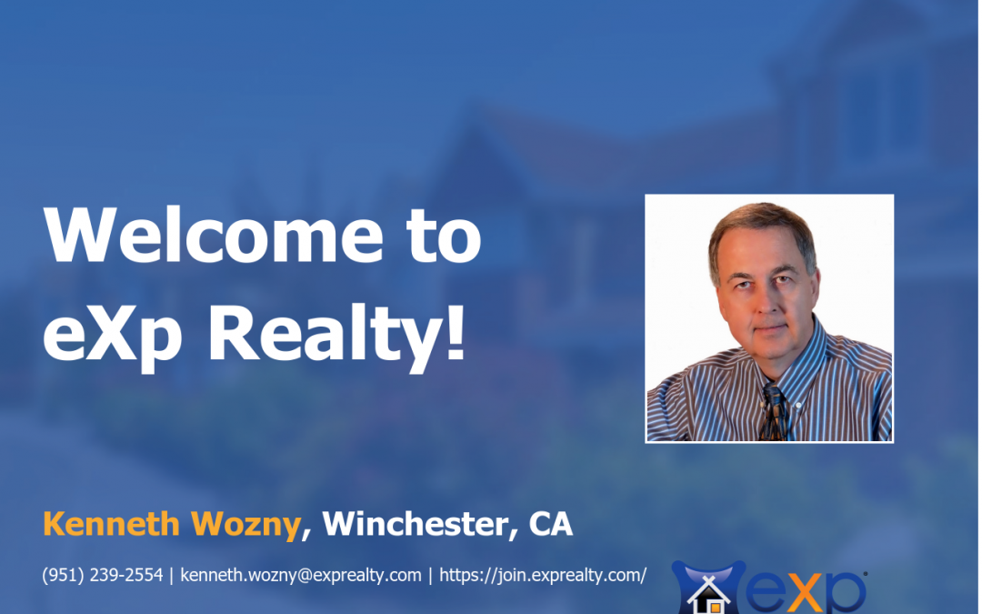 Kenneth Wozny Joined eXp Realty!