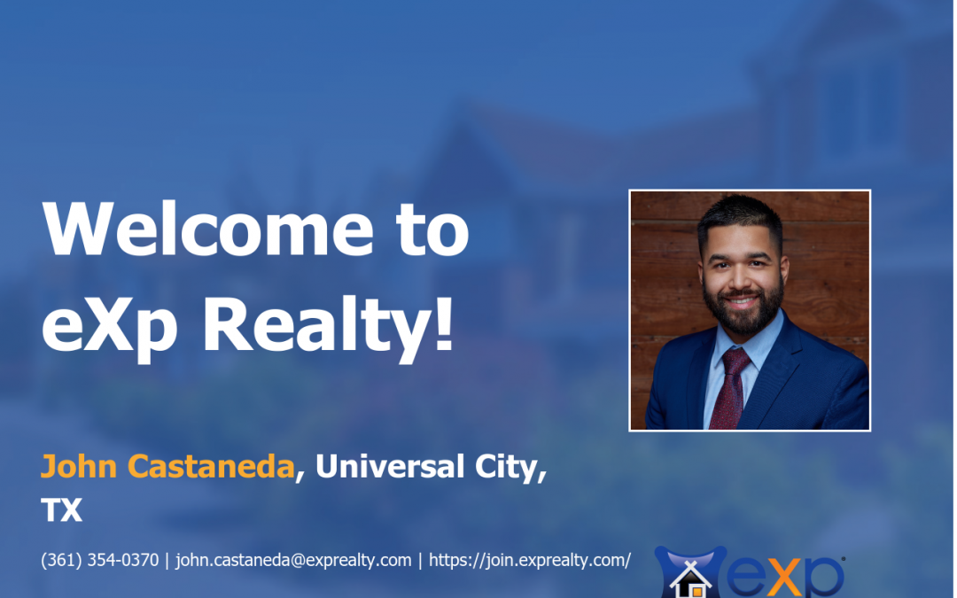 John Castaneda Joined eXp Realty!