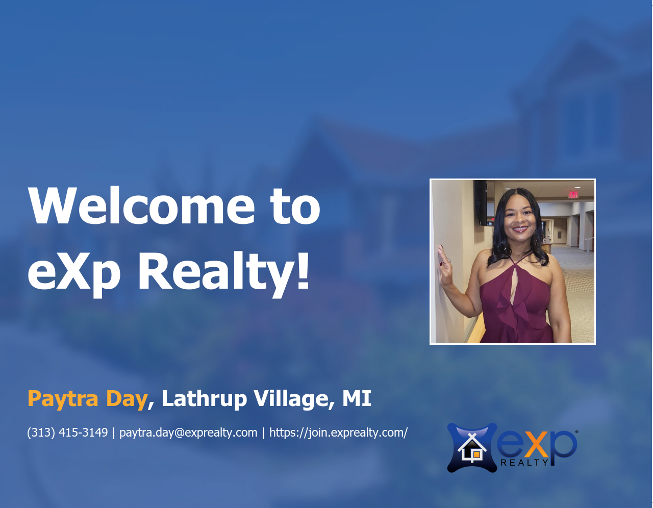 Paytra Day Joined eXp Realty!