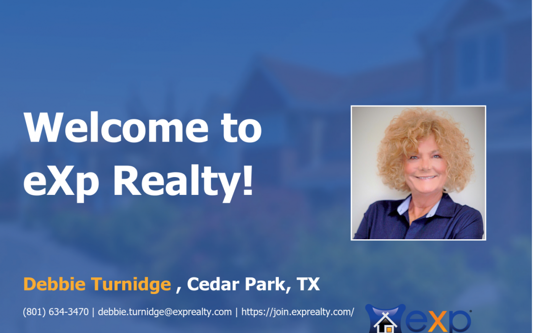 Welcome to eXp Realty Debbie Turnidge!