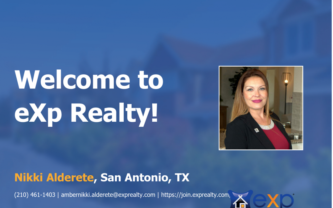Welcome to eXp Realty Nikki Alderete!