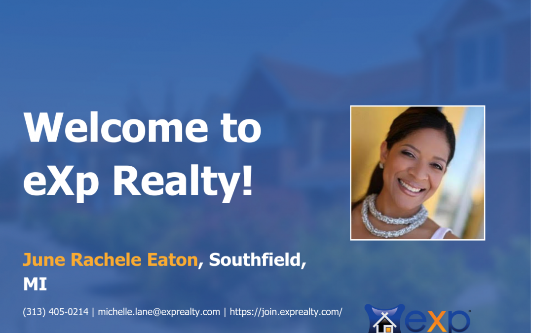 June Rachele Eaton Joined eXp Realty!