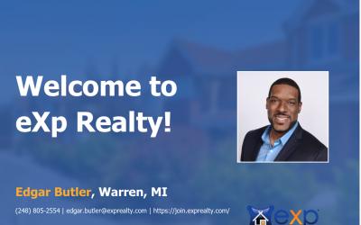 Edgar Butler Joined eXp Realty!