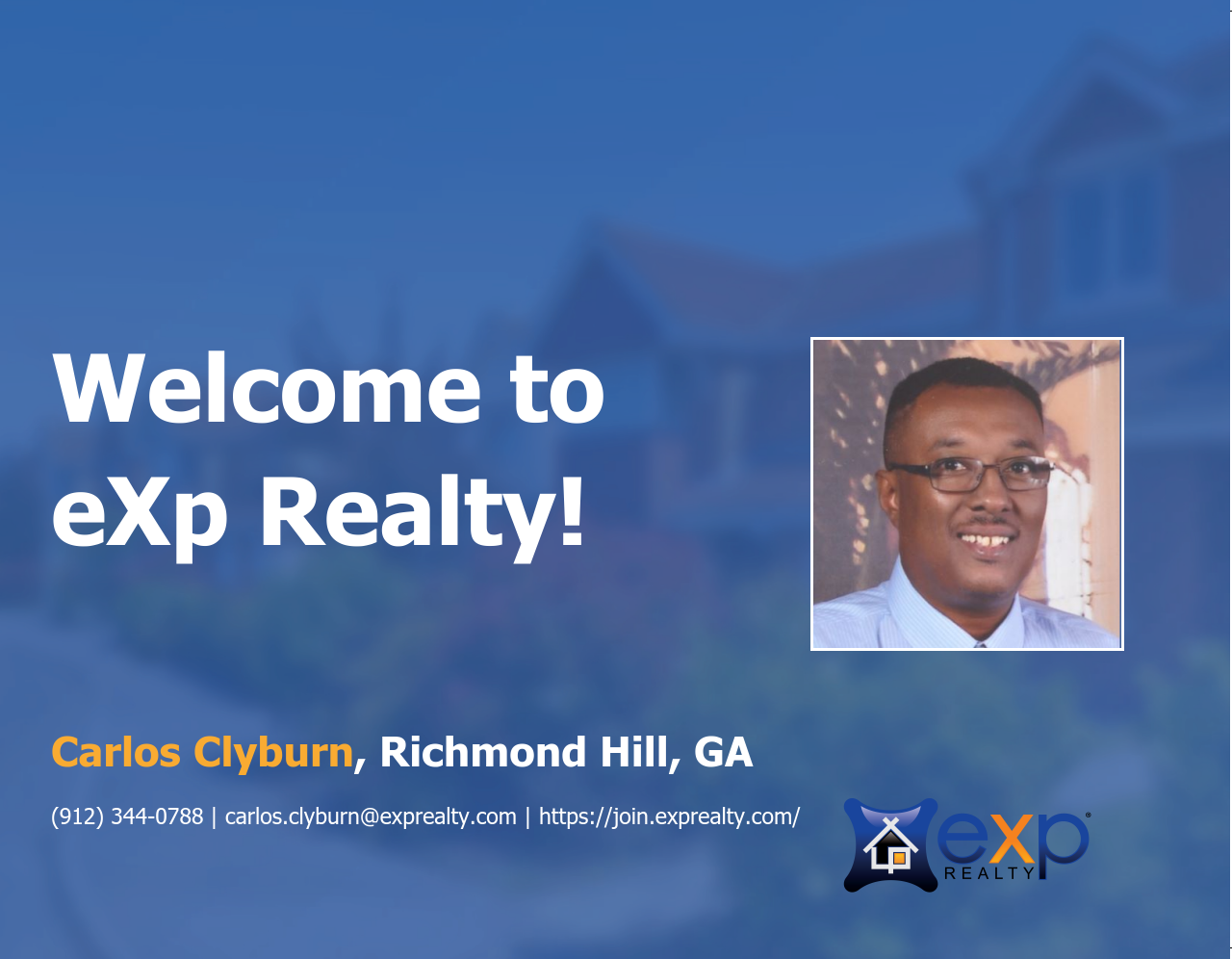 Welcome to eXp Realty Carlos Clyburn!