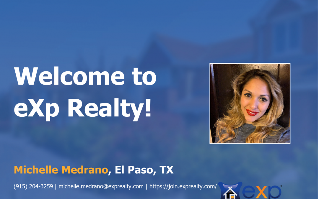 Michelle Medrano Joined eXp Realty!