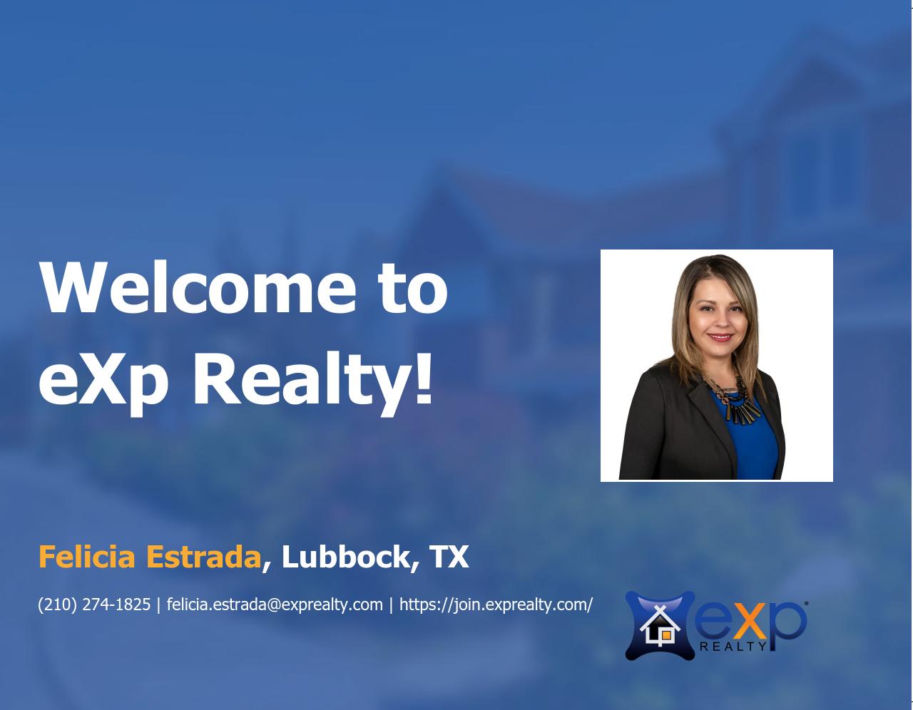 Felicia Estrada Joined eXp Realty!