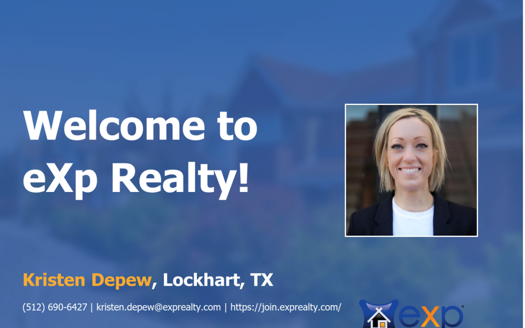 eXp Realty Welcomes Kristen Depew!