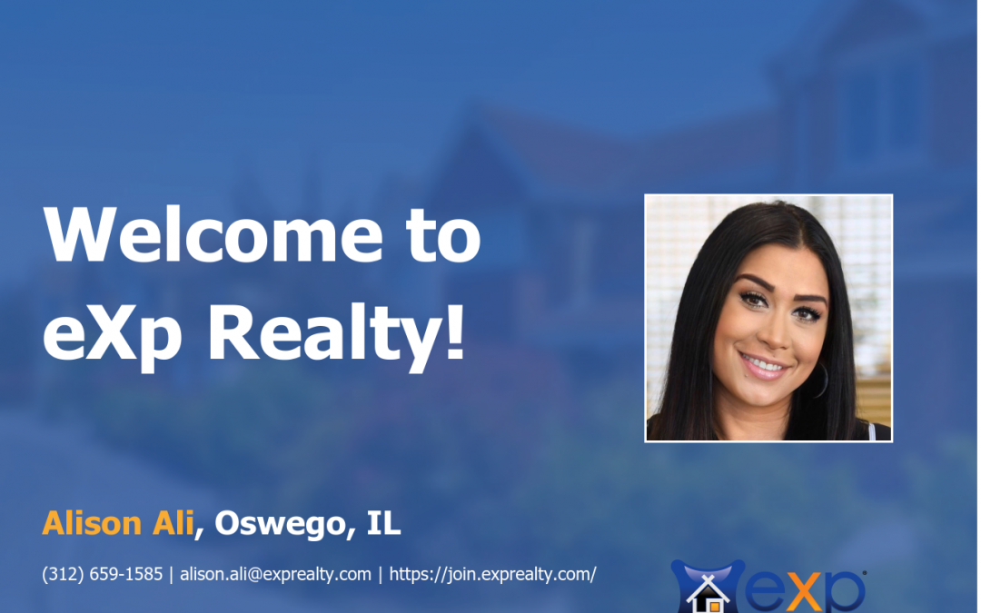 Alison Ali  Joined eXp Realty!