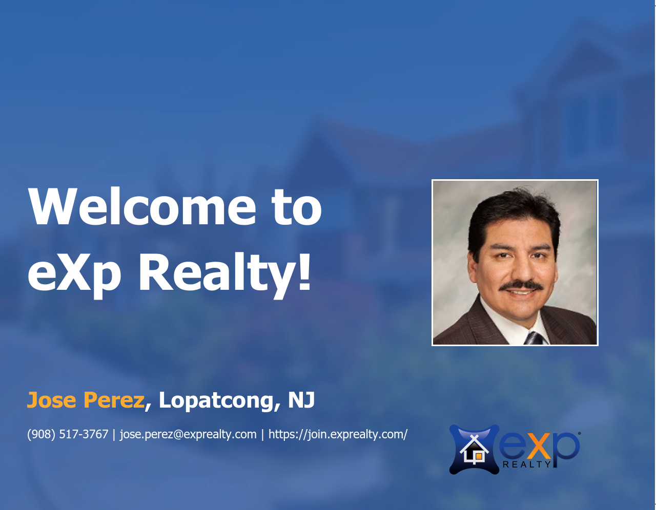 Welcome to eXp Realty Jose Perez!