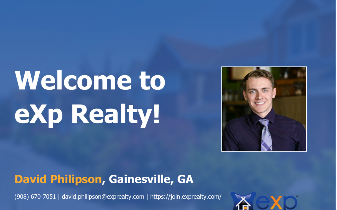 Welcome to eXp Realty David Philipson!
