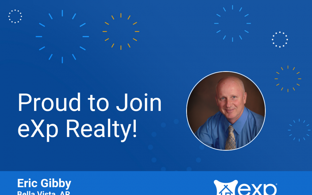 Welcome to eXp Realty Eric Gibby!