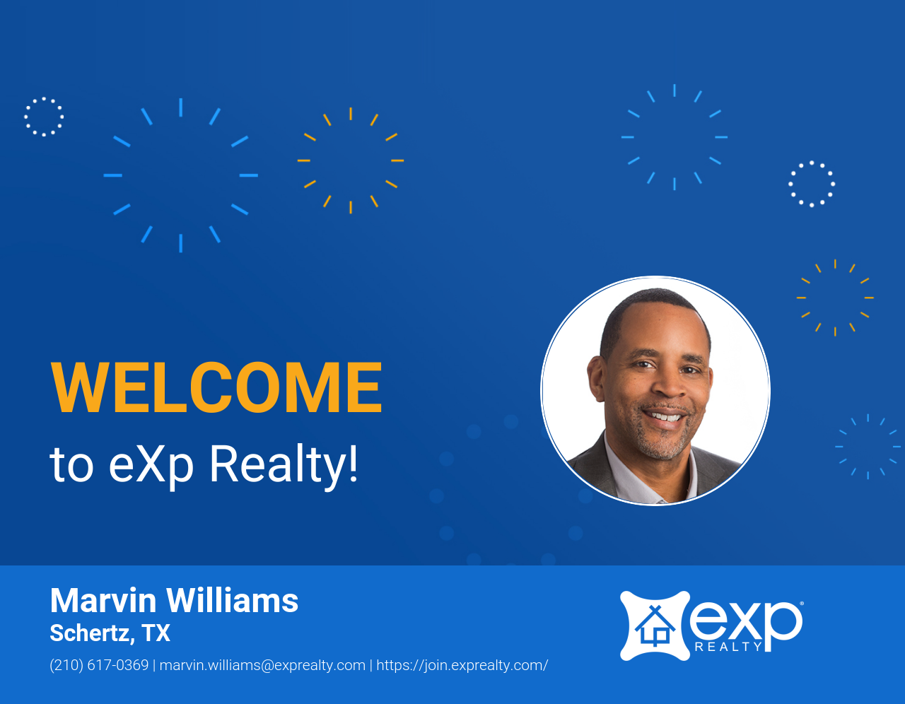 Welcome to eXp Realty Marvin Williams!